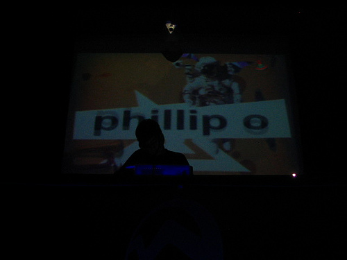 Phillip O DJing at Vertigo Club, Costa Rica, 2005